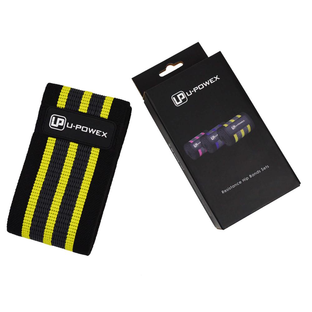 Фитнес резинка U-Powex Pro (Желтая +110 кг)