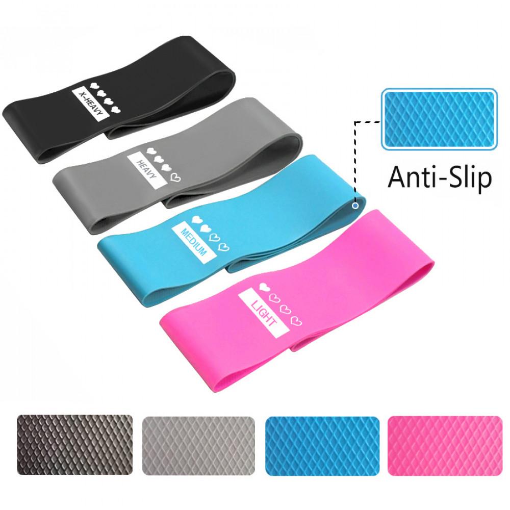 Набор с 4-х фитнес резинок Zakerda Anti-Slip