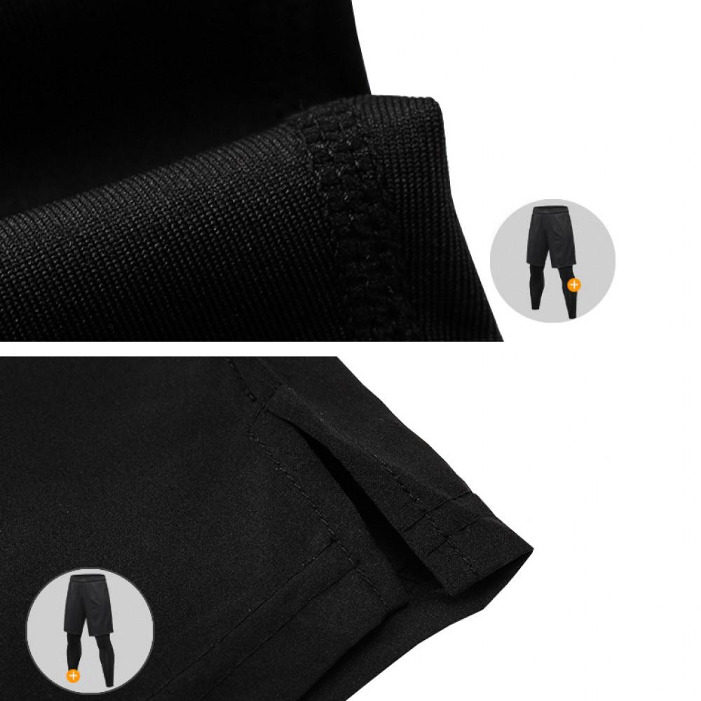 Мужские тайтсы с шортами U-Power (Black)