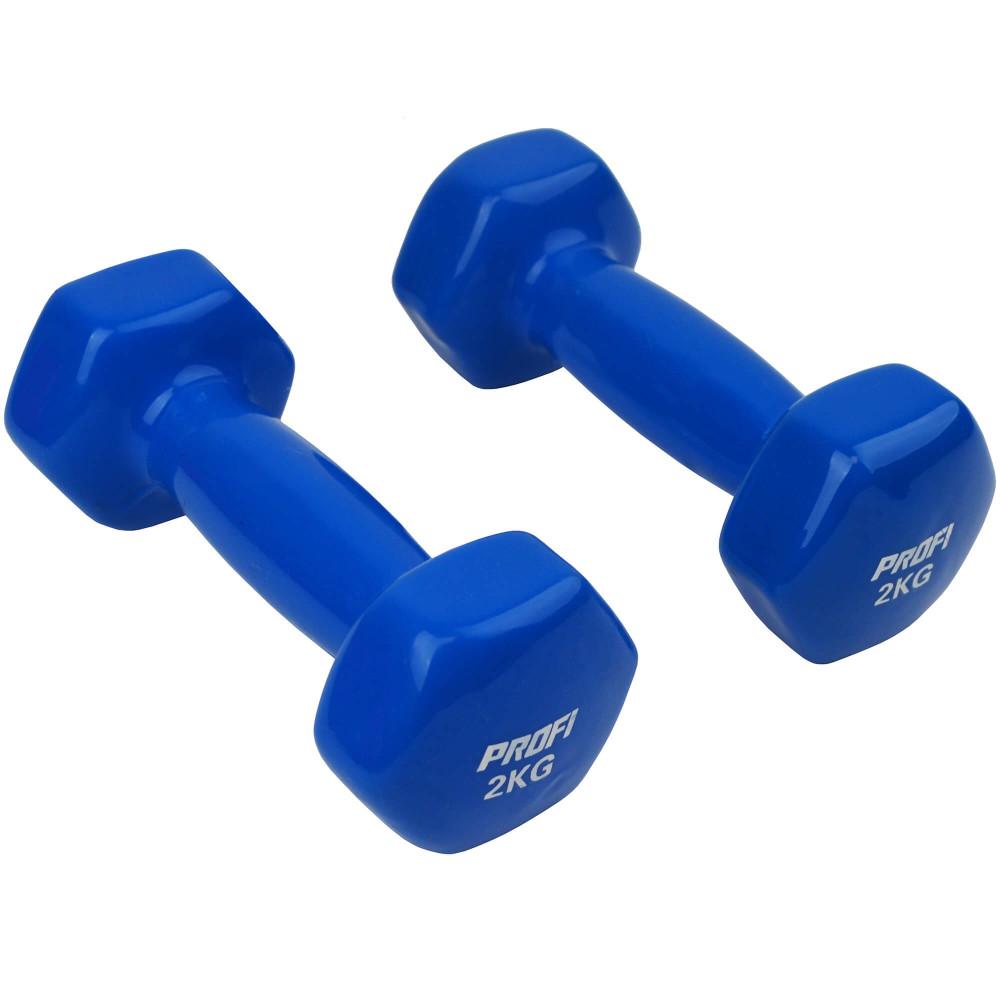 Набір вінілових гантелей U-Power Profi 2х2 кг (Blue)