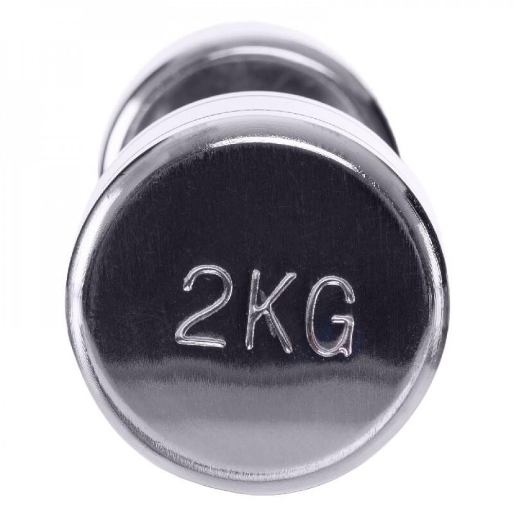 Стальная гантель U-Power Chrome 1х2 кг