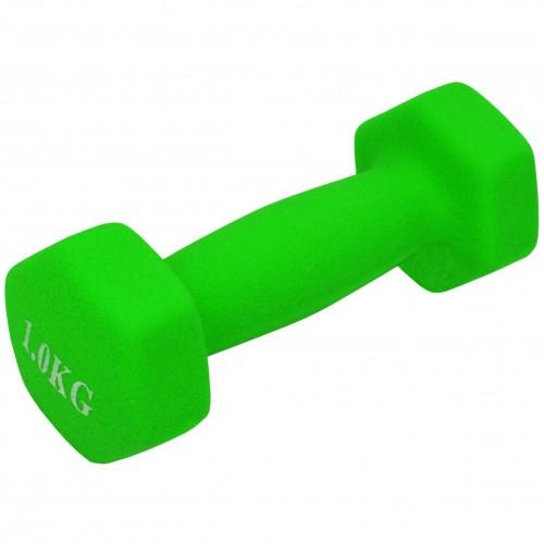 Неопренова гантель U-Power Fitness Mad 1х1 кг (Light Green)