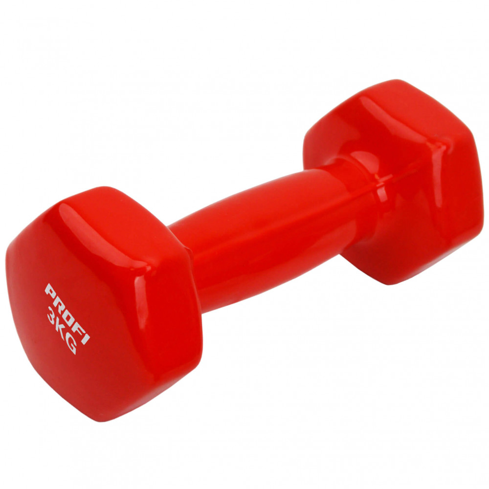 Виниловая гантель U-Power Profi 1х3 кг (Red)