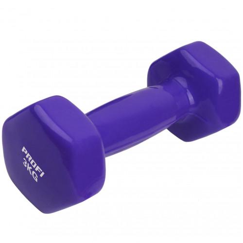 Вінілова гантель U-Power Profi 1х3 кг (Purple)