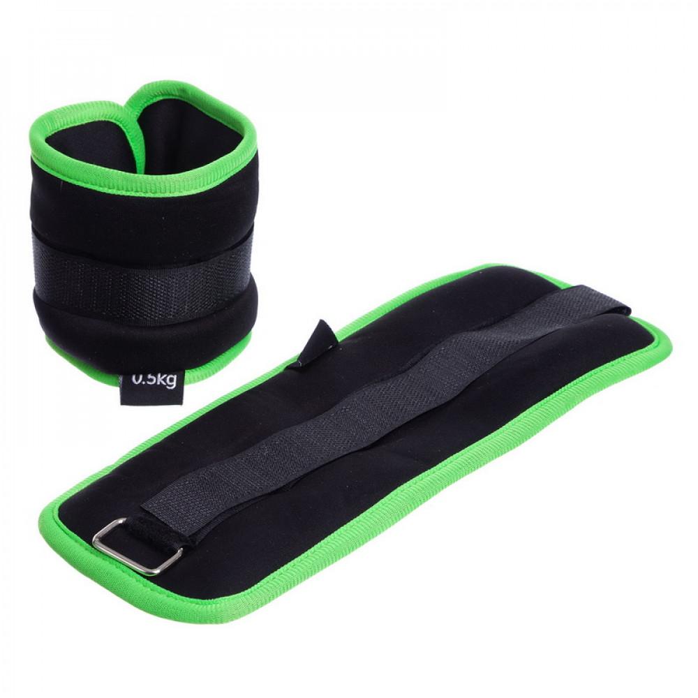 Обважнювачі для ніг і рук U-Power 2 х 0.5 кг (Black Lime)