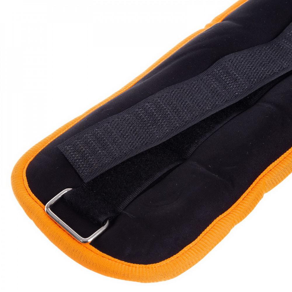 Утяжелители для ног и рук U-Power 2 х 1 кг (Black Orange)