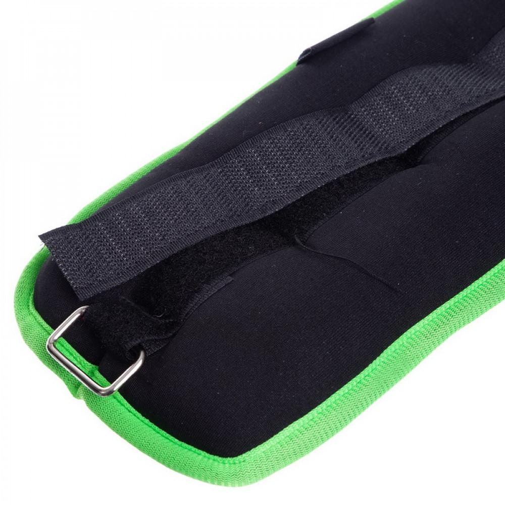 Обважнювачі для ніг і рук U-Power 2 х 1 кг (Black Lime)