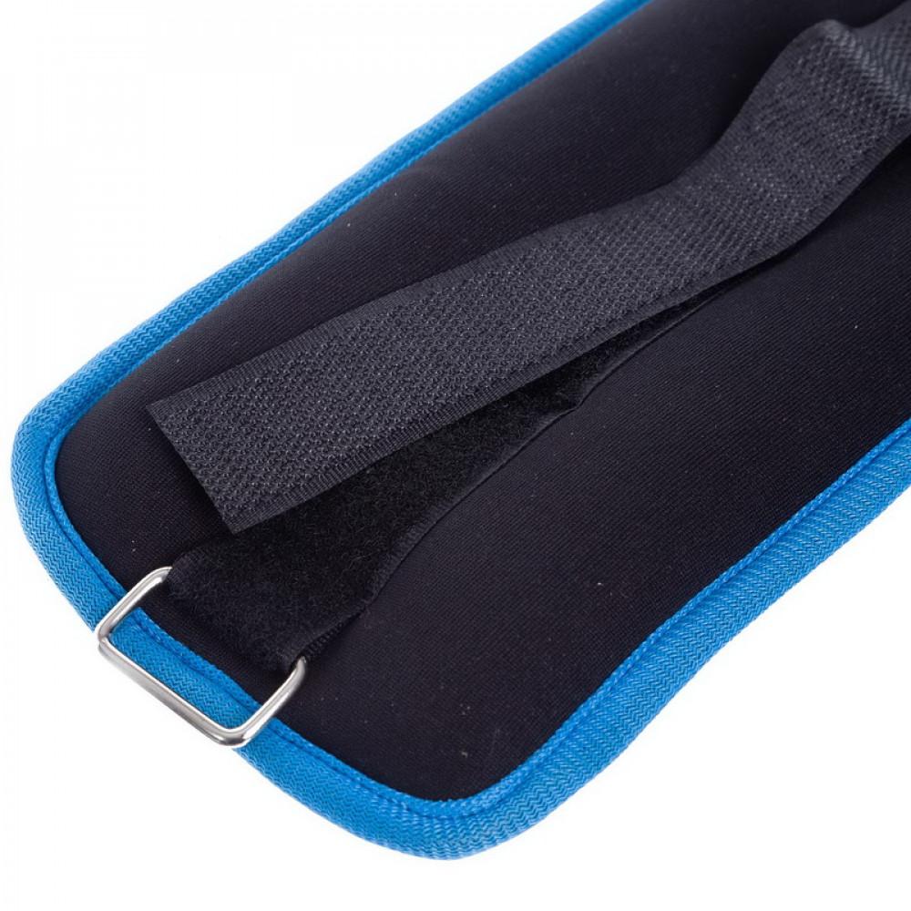 Утяжелители для ног и рук U-Power 2 х 1 кг (Black Blue)