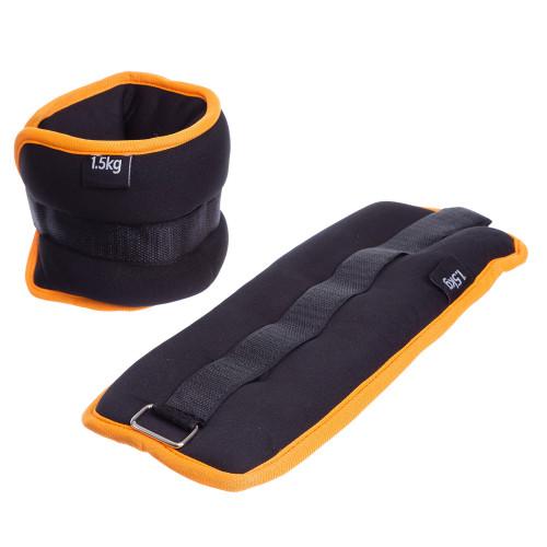 Обважнювачі для ніг і рук U-Power 2 х 1.5 кг (Black Orange)
