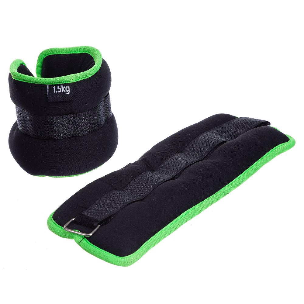 Обважнювачі для ніг і рук U-Power 2 х 1.5 кг (Black Lime)