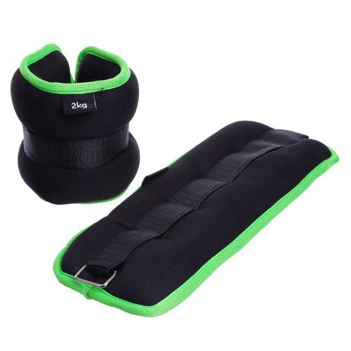 Обважнювачі для ніг і рук U-Power 2 х 2 кг (Black Lime)
