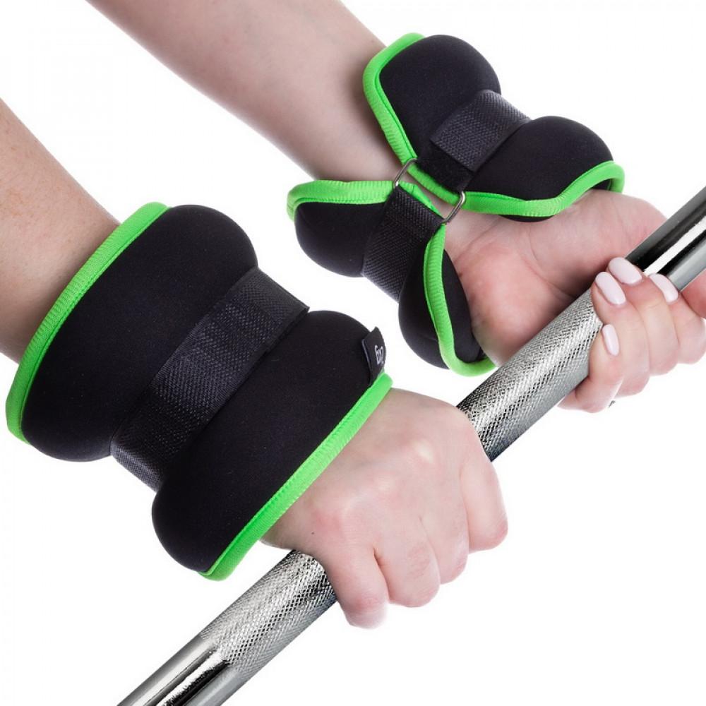 Утяжелители для ног и рук U-Power 2 х 2 кг (Black Lime)