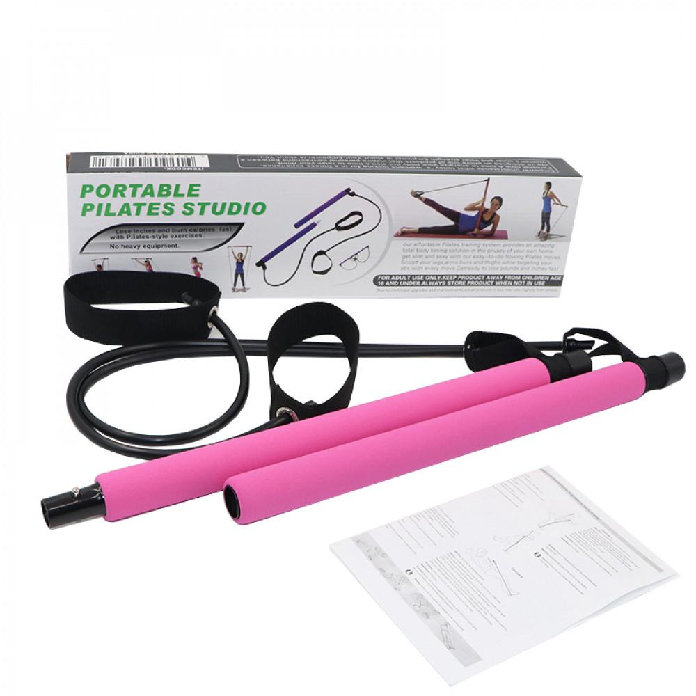 Тренажер для занятий пилатесом Portable Pilates Studio (Pink)