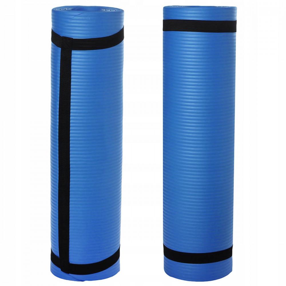 Килимок для йоги U-Power Soft (Blue)