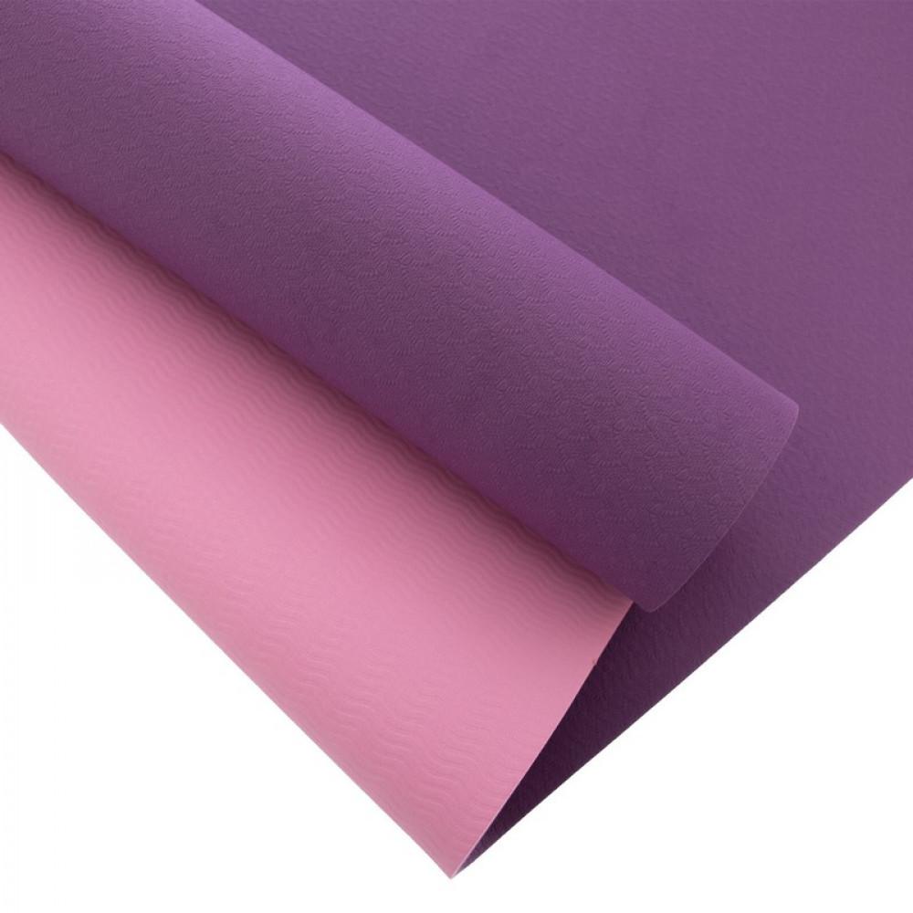 Килимок для йоги U-Power Tessa (Purple-pink)