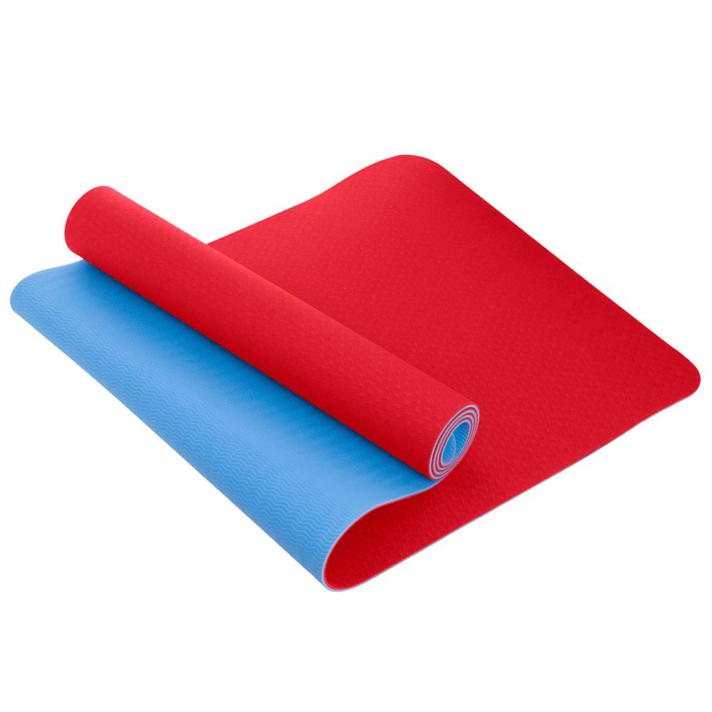 Коврик для йоги U-Power Tessa (Red-blue)