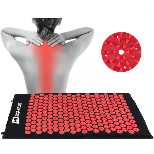 Масажний акупунктурний килимок Hop-Sport (Red)