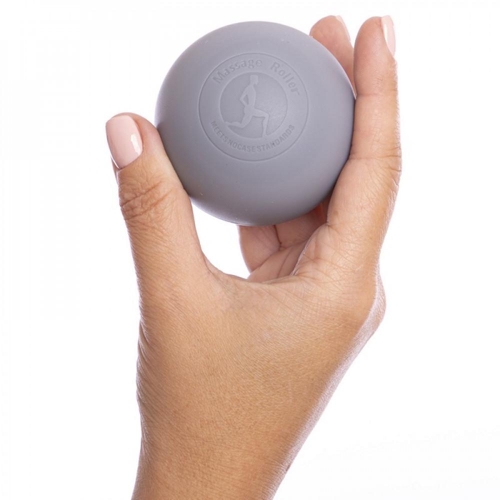 Силіконовий масажний м'яч U-Power Acupressure 63 мм (Gray)