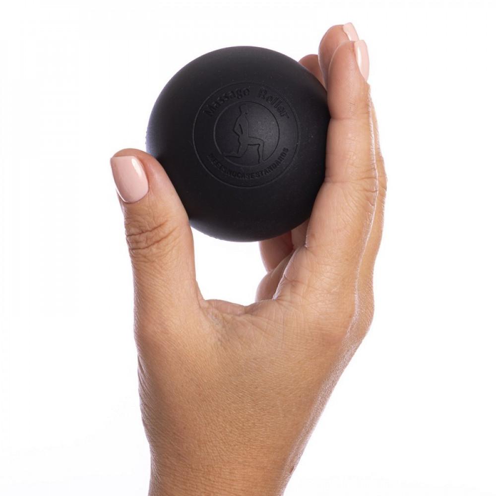 Силиконовый массажный мяч U-Power Acupressure 6.3 см (Black)