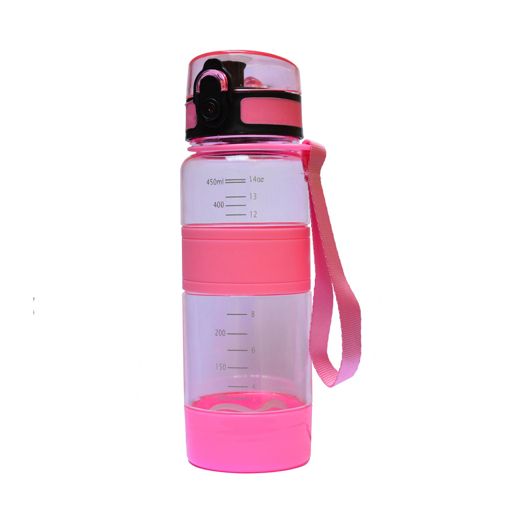 Спортивная бутылка для воды 450 мл U-Power (Pink)