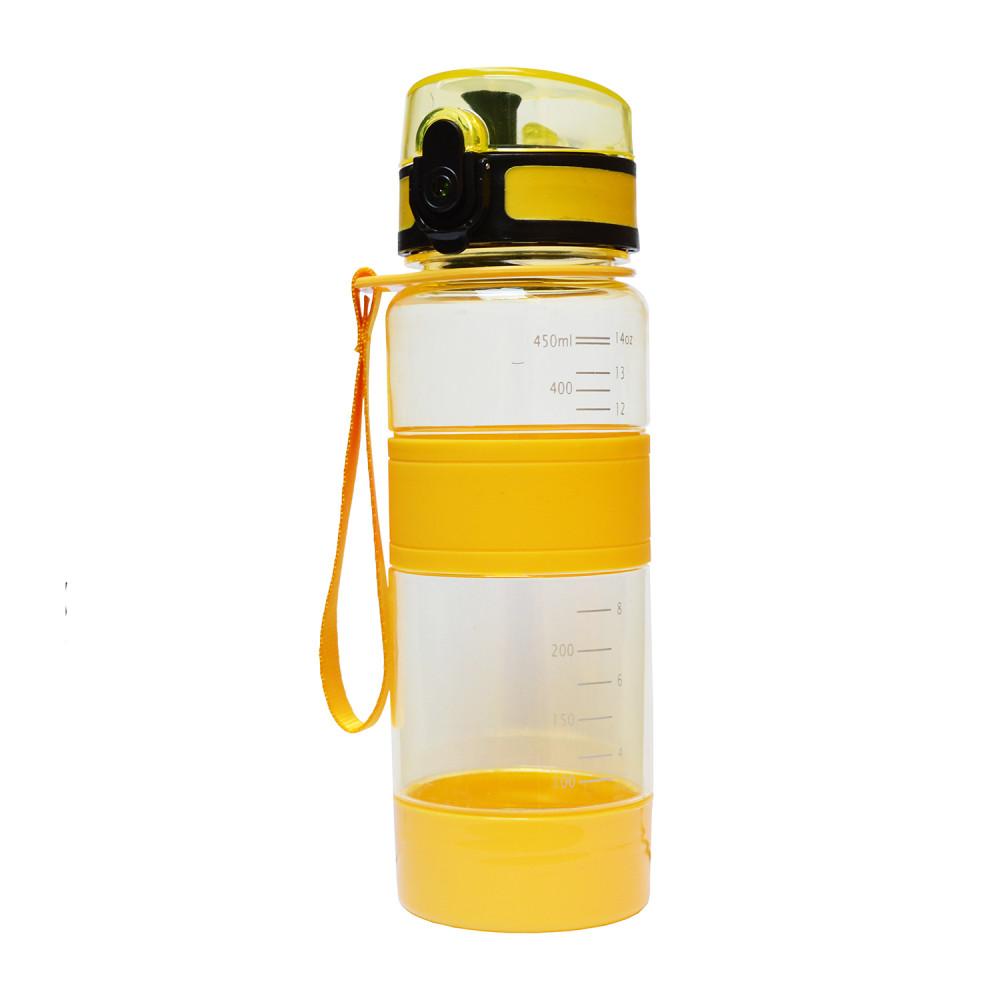 Спортивная бутылка для воды 450 мл U-Power (Yellow)