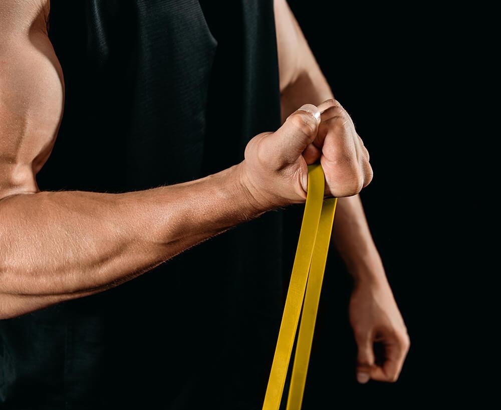 В Подарок! Резиновая петля U-Power Resistance Cross Band (Желтая 1-6 кг)
